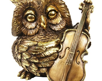 Golden Owl with Violin