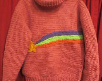 Adult size Mabel shooting star sweater Gravity Falls