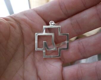 Rammstein silver pendant
