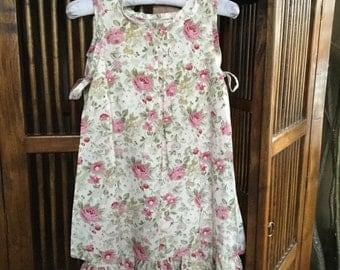 Rose pinafore dress