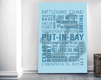 Put-in-Bay Ohio Themed Canvas!