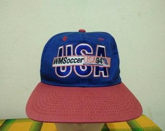 Rare Vintage WMSoccer USA 94' Cap Hat Free size fit all