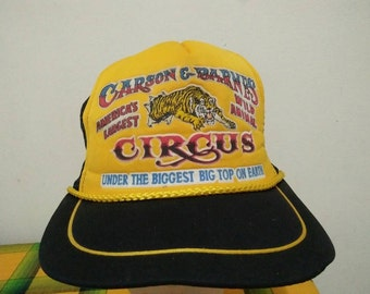 Rare Vintage CARSON BARNES CIRCUS Cap Hat Free size fit all