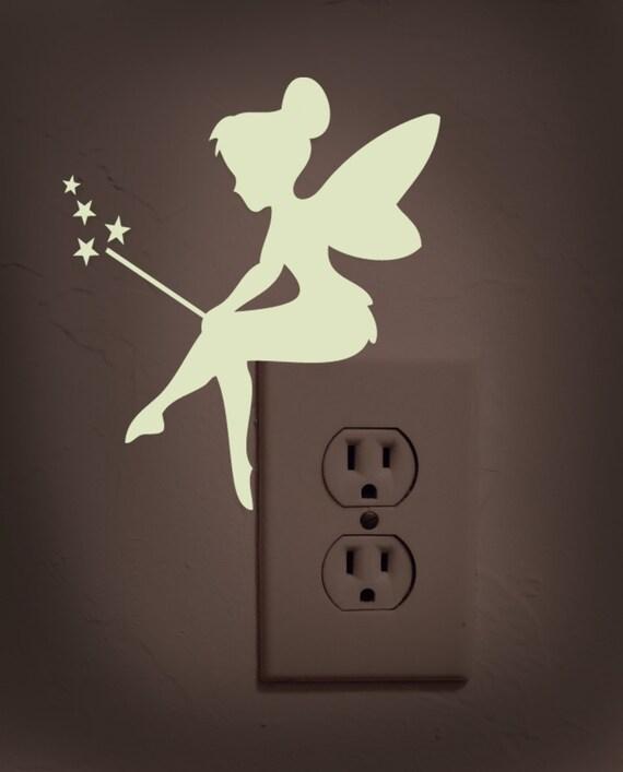 Glow in the dark tinker bell decalgirl by dadavinylsanddesigns