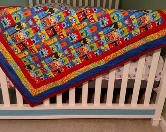 Little Monsters Baby Quilt