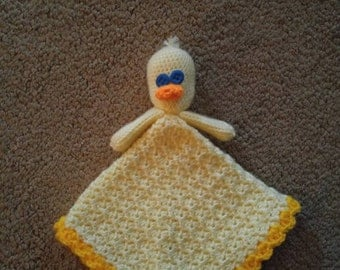 Crochet duck lovey
