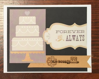 Forever and Always Engagement / Wedding Card