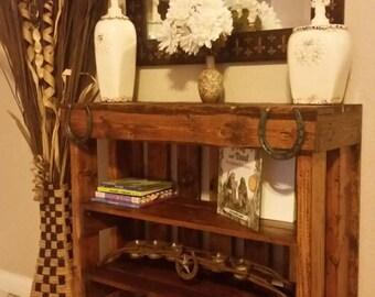 Bookcase, rustic bookcase, wood bookcase, shabby chic bookcase, children's bookcase, children's bookshelf, Mid century bookcase, bookshelf