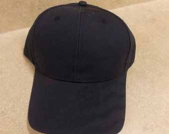 12 Navy Blank Hats, with american flag watermark print on bill
