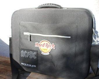 15er-laptopcase new, (AC/DC-button+HardrockCafe)