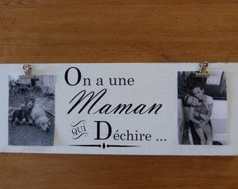 Cadre photo personnalisable. Porte photo personnalisable. pèle mèle . Cadeau papy/mamie/nounou/maman . Custom photo frame