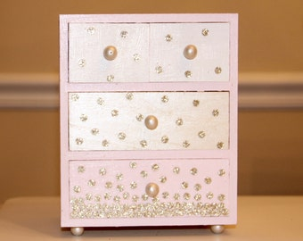 Kid's Jewelry Box with Drawers