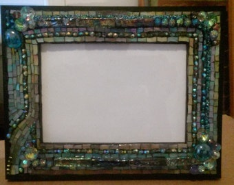 Handmade mosaic picture frame  8x10