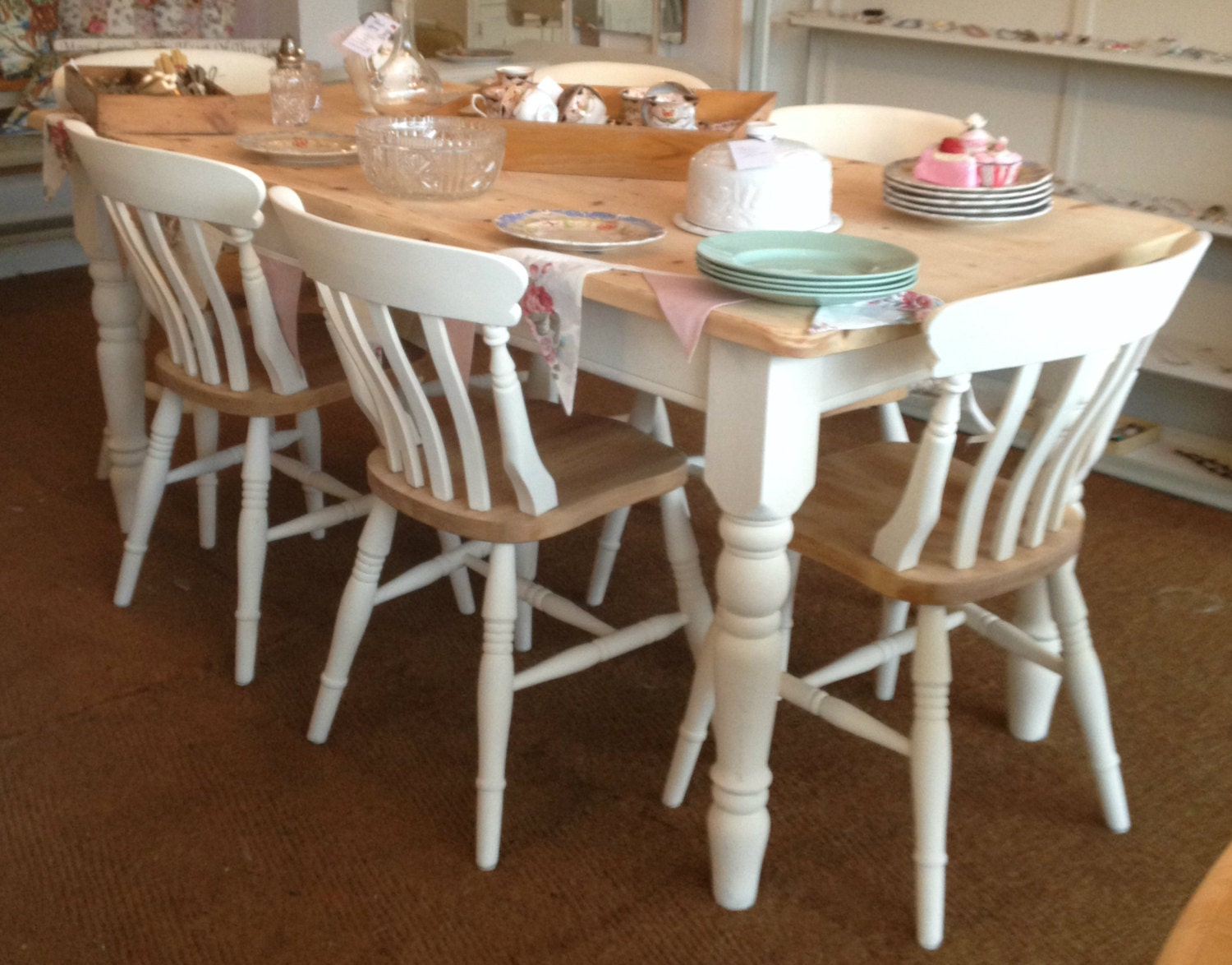 Pine Chairs Farmhouse Pine Dining Chairs Set Of 4 6 8