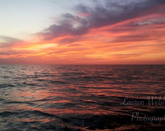 Sunset Pink Waves