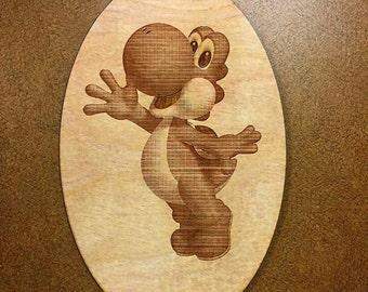 Cartoon Character Custom Wood Engraving