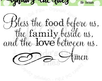 Bless the food before us v2 SVG/DXF file