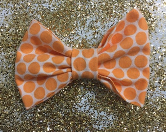 Orange Polka Dot Bow