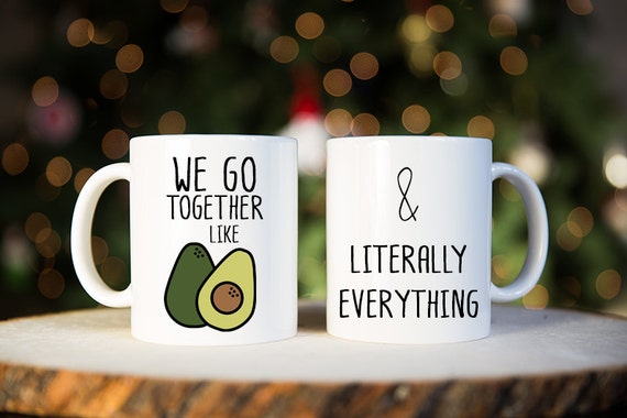 We Go Together Like, Coffee Mug, Avocado, Gift for Couple, Couples ...