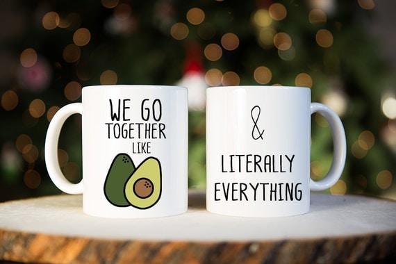 Wedding Gifts For Couples Who Like To Travel : We Go Together Like, Coffee Mug, Avocado, Gift for Couple, Couples ...