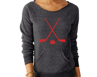 Hockey - Alternative eco sweatshirt - Choose your ink color!