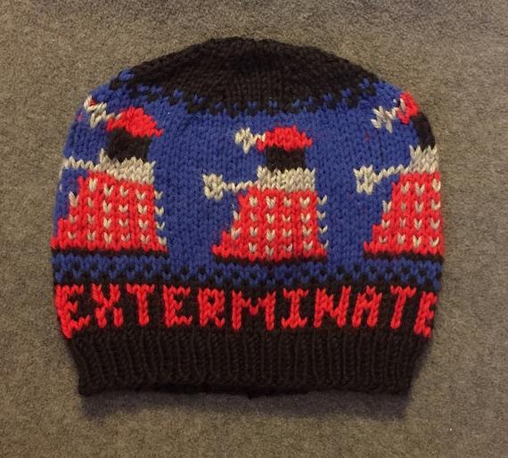 Knitting Pattern For Dalek Hat : Dr. Who Dalek Knit Hat Handmade