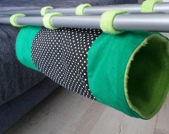 Tube hammock for rats, sugar gliders, tunnel for ferrets - fleece, cotton