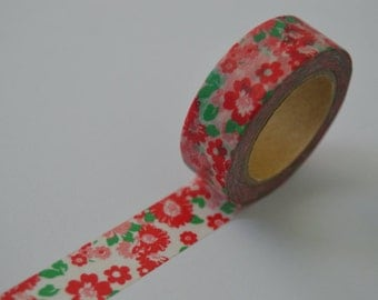 Floral washi tape 10m