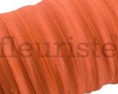 Fold Over Elastic, FOE, Foldover Elastic, Elastic By The Yard, 5/8 Elastic, Solid Elastic, Wholesale Elastic, Stretch Elastic, DUSTY ORANGE