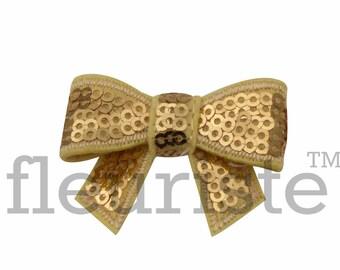 GOLD 2 inch Sequin Bows, Large Glitter Bow, Shiny Bows, Fabric Bows, dIY Bows, DIY Bows, Soft Bows, Wholesale Bows, Diy Headband