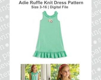 Patsy Aiken S12-941 Girls Knit Dress Sewing Pattern (Sizes 3-16) Digital PDF …