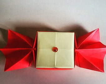 """origami box-candy/candy favor boxes/cardboard boxes """"/box price for one piece"""