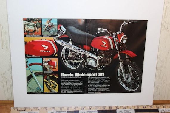 1969 Vintage Honda Motosport Sl 90 Motorcycle By