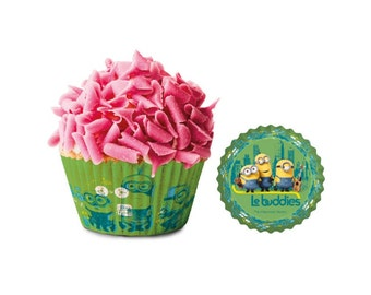Minions Paper Cupcake Cases 50 pack - green