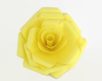 Large Yellow Wedding Decor Paper Roses, Yellow Wedding Decor, Yellow Paper Roses, Large Yellow Paper Rose, Large Paper Rose, Large Roses