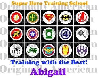 Super Hero Training School Iron-on Image