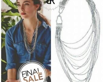 Multi-strand Chain Bib Necklace