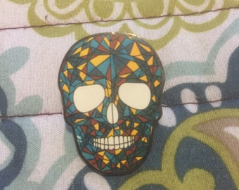 Candy skull hat pin