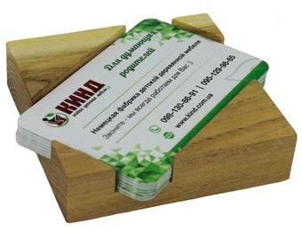 WoodBi | High-quality business card box made of Acacia tree | Business card holder made of wood. Visit racks