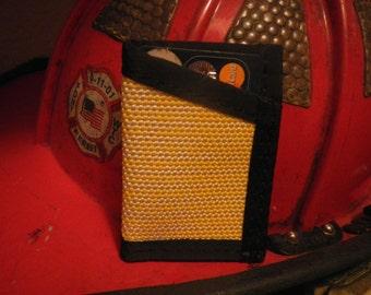 Fire hose credit card wallet