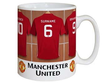 Personalised Manchester United F.C. Dressing Room Mug