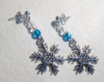 "Handmade ""Icicle"" Crystal and Charm Earrings"