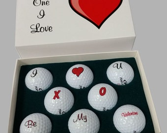 Valentine Golf Ball Gift