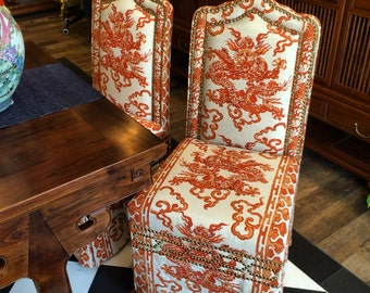 Handmade dining chair (imported fabric by Arreda)