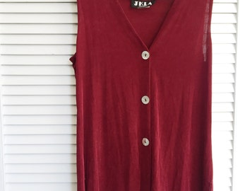 Vintage Red Sleeveless Top