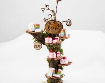 Fairy Cakes,Choice of ONE,  Miniature Clay Cakes, Fairy Food, Fairy Garden Item, Fairy Sweets, Mini Cakes, Doll Cake,
