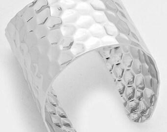 New Silver Hammered Fashion Cuff Bracelet