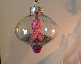 Handmade Breast Cancer Ornament!! I will be donating 20% of each purchase to the Susan G. Komen Breast Cancer Foundation!