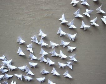 Set 100 small white butterflies mini paper origami decoration supply decoration wedding party garland celebration table wall