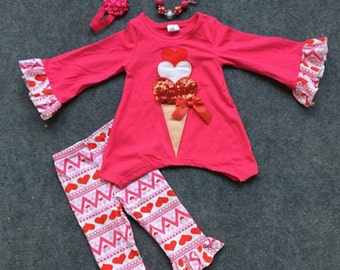 Hearts and Icecream  Valentines Set